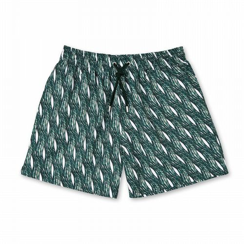 Swim Shorts - Vagues - Dark Green